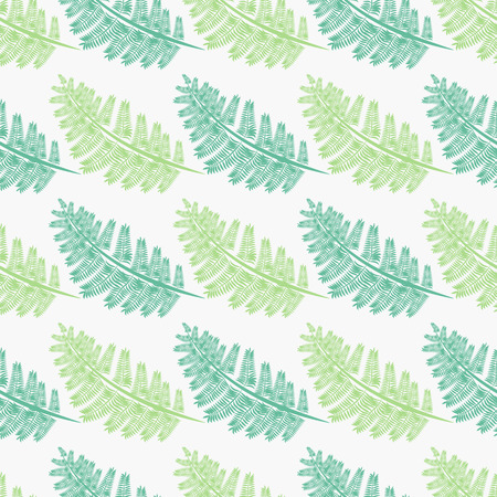 light and dark green Fern frond silhouettes seamless pattern. Floral print. 10 eps Ilustracja