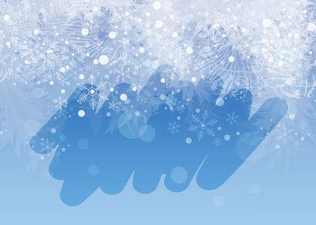 Fondo de ventana helado de invierno. Congelar y enrollar en el vaso. 10 eps