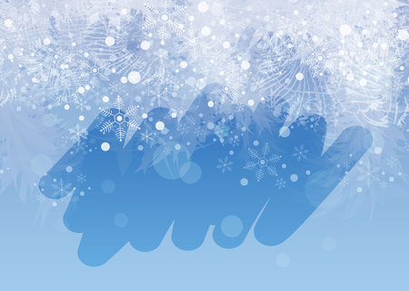 Winter frosted window background. Freeze and wind at the glass. 10 eps Ilustração
