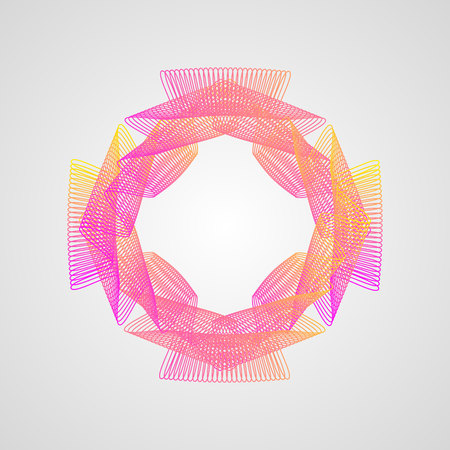 line pattern. Stylized Guilloche . colorful gradient frame 10 eps