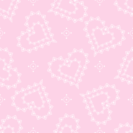 Cute abstract lace hearts seamless pattern. Love print. Valentine day 10 eps