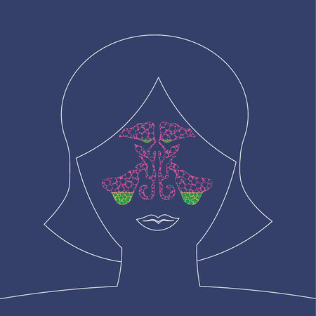 maxillary sinus inflammation medical illustration. sinusitis disease, vector nose illustration, sinus anatomy, human respiratory system 10 eps Illustration