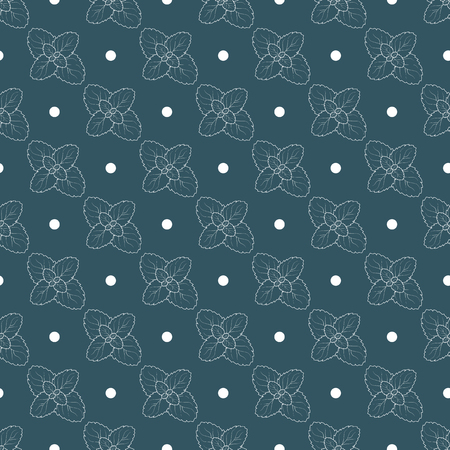 mint leaf background. Ecology mint seamless pattern 10 eps