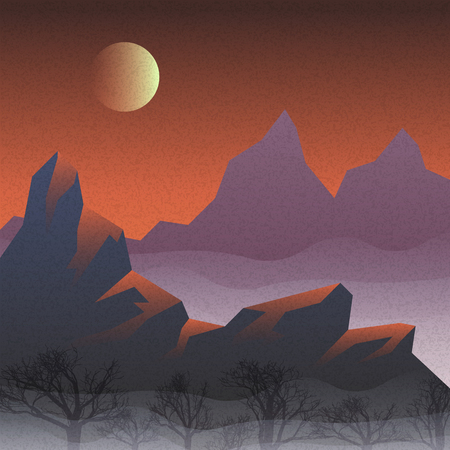 Vector landscape with mountains and fog. abstract vector illustration 10 eps Banque d'images - 116459781