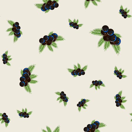 Floral print. acai berry with palm leaves Seamless pattern 10 eps Illustration