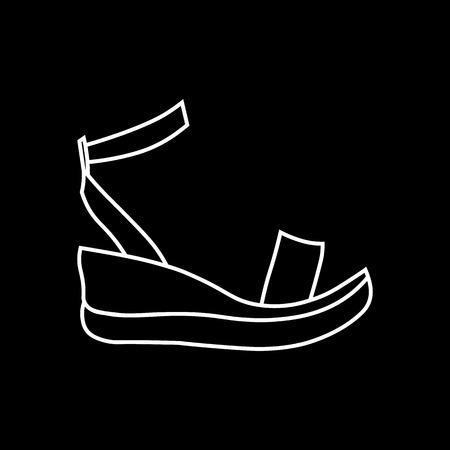 Linear platform sandals icon from Clothes outline collection. platform sandals trendy illustration 10 eps