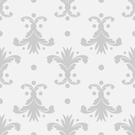 Wallpaper in the style of Baroque. A seamless vector background. Floral ornament 10 eps