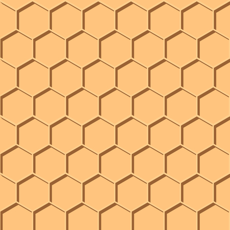 Abstract honey print. seamless geometric pattern with honeycombs 10 eps Illustration