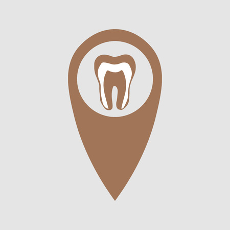 point location depicting a tooth. Medical element 10 eps