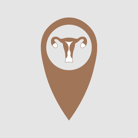 point location depicting the uterus. Medical element 10 eps