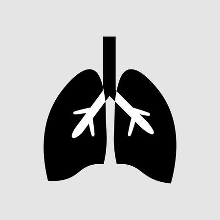 Stylized human lungs anatomy line icon. Medical illustration 10 eps Illustration