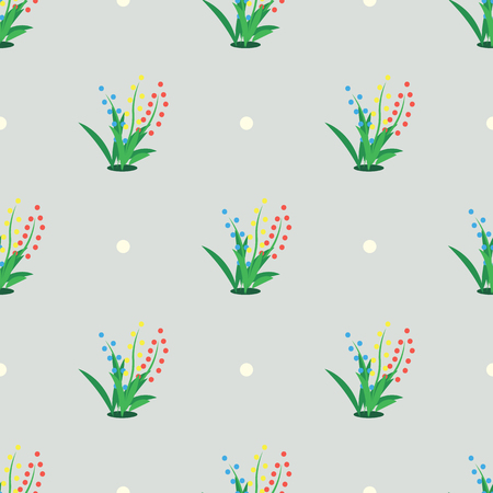 abstract colored vector Seamless pattern. Grass print Illustration