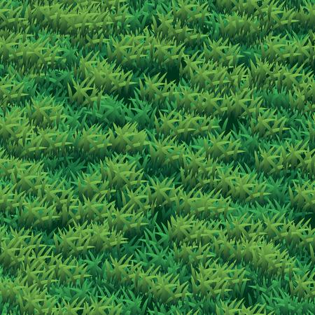 Seamless grass vector texture. Green grass seamless texture illustration 10 eps