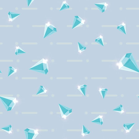 Vector seamless retro pattern, with diamonds. Can be used for wallpaper, pattern fills, web page background,surface textures