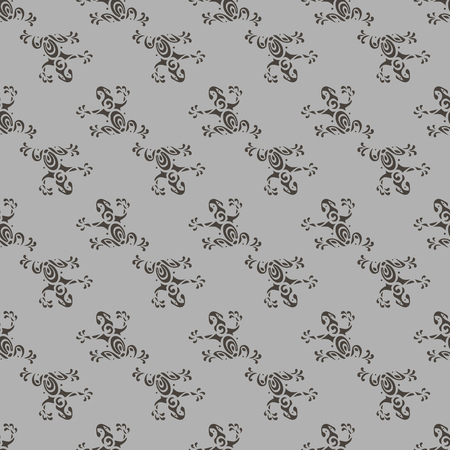 seamless frog pattern vector illustration in Maori style 10 eps Illustration