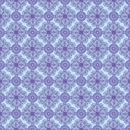 Blue abstract Thailand Ethnic floral ornaments seamless pattern 10 eps Ilustração