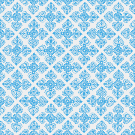 abstract seamless pattern with Blue Thailand Ethnic ornaments 10 eps