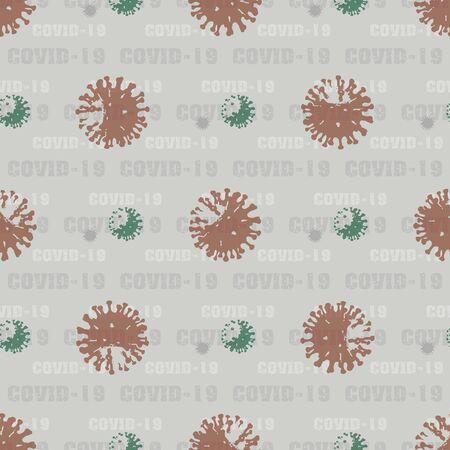 seamless pattern background Coronavirus COVID-19 . Virus bacteria Ilustracja