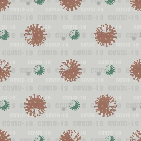seamless pattern background Coronavirus COVID-19 . Virus bacteria Zdjęcie Seryjne - 144141671