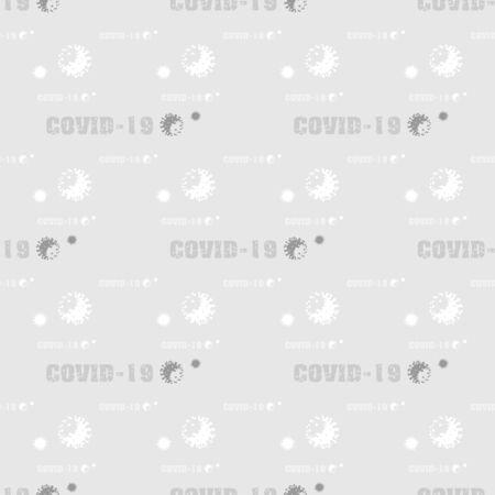 vector Coronavirus COVID-19 Virus bacteria seamless pattern