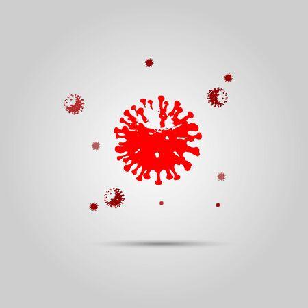 Vector Novel Coronavirus 2019-nCoV . Virus Covid 19-NCP. Ilustracja