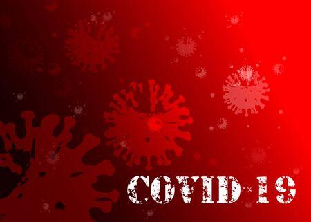 Coronavirus nCoV denoted is single-stranded RNA virus. Background danger symbol vector illustration.Novel Coronavirus 2019-nCoV . Virus Covid 19-NCP Ilustracja