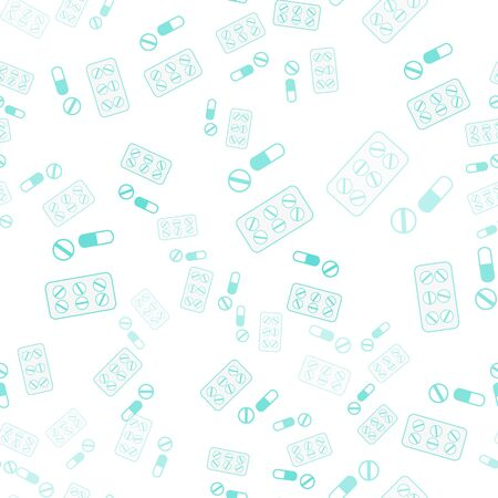Seamless pattern with lot of pills and capsules. Medicine or dietary supplements. Design for clinics, hospitals, pharmacies.