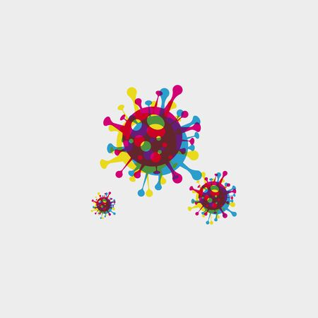 vector illustration Coronavirus COVID-19 . Virus bacteria Virus Covid 19-NCP