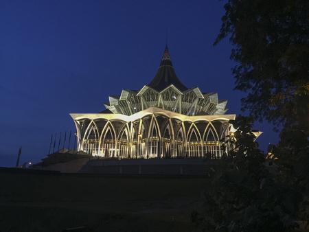 Sarawak, Malaysia-July 28, 2018: Sarawak State Legislative Assembly Building located in Kuching, Sarawak, Malaysia.