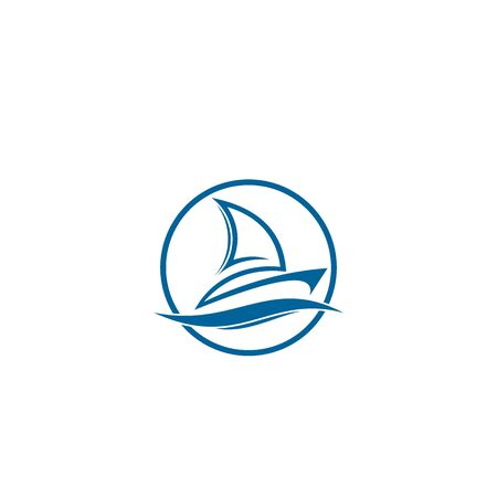 Sailing logo design, vector icons.