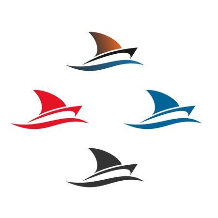 Sail boat logo design, vector icons.