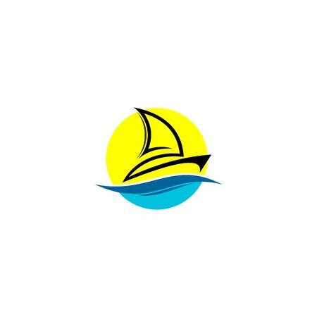 Sailing logo design, vector icons.