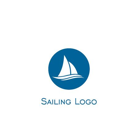 Sailboat logo vector.