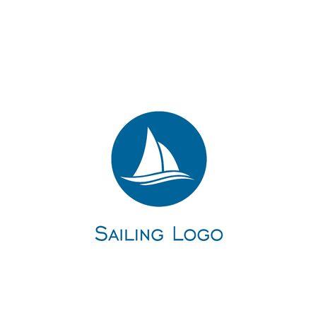 Sailboat logo vector.