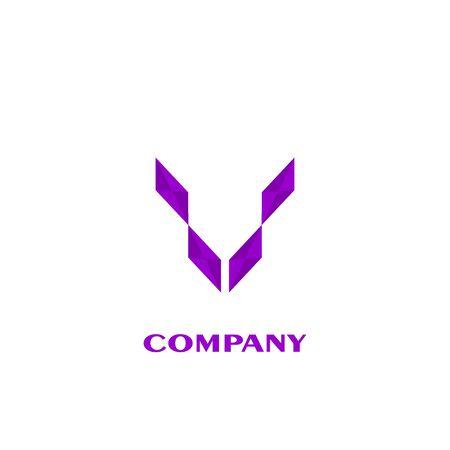 simple wings logo. business logo design.