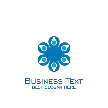 Teamwork logo design. business logo vector graphic design.
