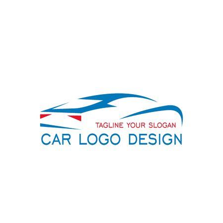 Car logo design, car vector graphic flat design, automotive logo isolated on white background.