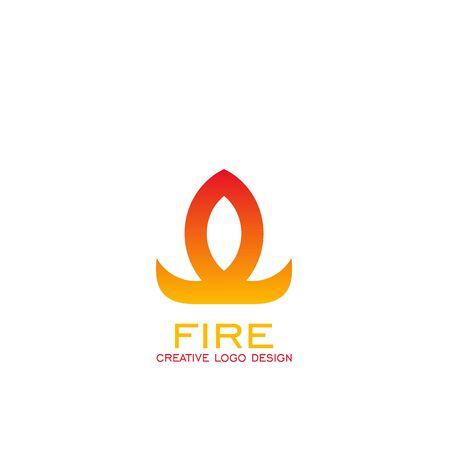 Fire logo vector graphic design, vector icons. Çizim