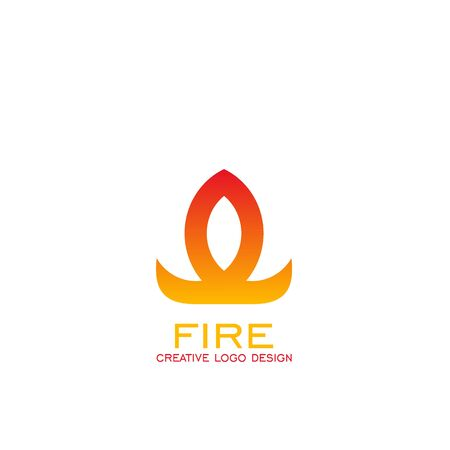 Fire logo vector graphic design, vector icons. Illustration