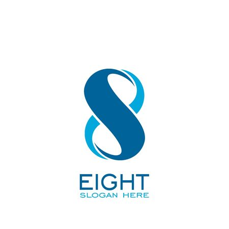 Eight logo, number 8 logo vector graphic design.