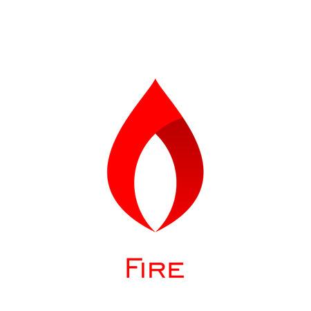 Fire logo design, flame logo graphic vector. Çizim