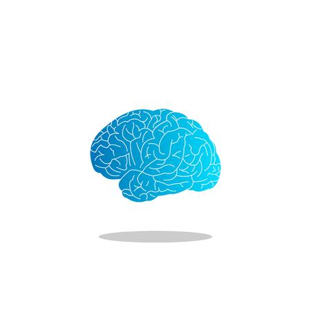 Brain logo vector. abstract brain graphic design.