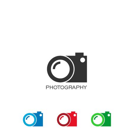 Logotipo de fotografía, diseño de logotipo de cámara, logotipo de lente.