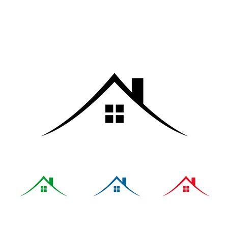 간단한 부동산 로고, 집 로고 디자인. 벡터 (일러스트)