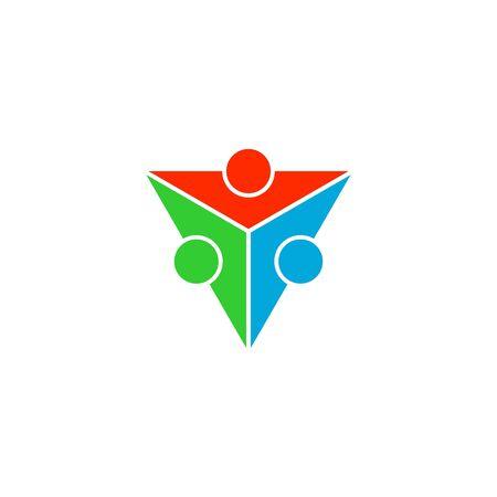 Teamwork logo vector, triangle design, vector icons. Banco de Imagens - 132081848
