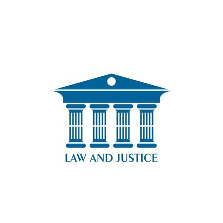 Ancient buildings logo, Law and justice logo, vector illustrations.