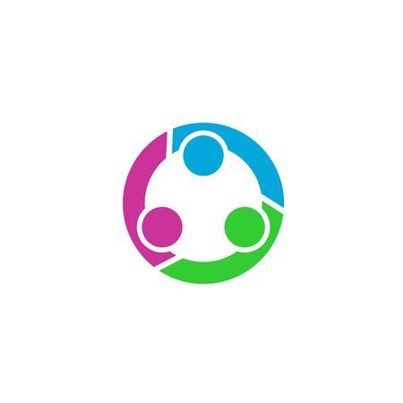 Circle Teamwork logo, connection logo. Banco de Imagens - 132081860