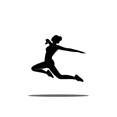 Woman active silhouette graphic design.