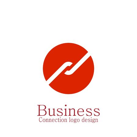 Business connecting logo, circle design.