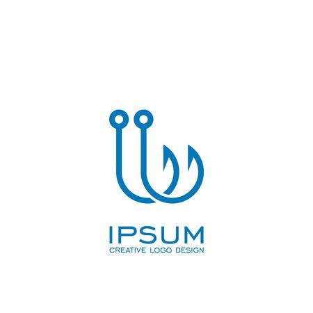 Hook logo design, vector icons. 写真素材 - 132081876
